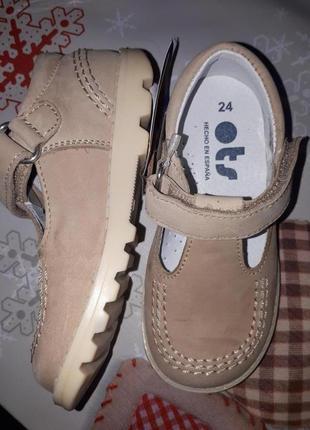 В наличии распродажа!!! кожаные туфельки ots(испания)