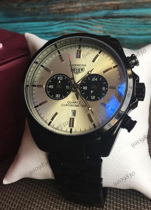 Мужские наручные часы, кварцевый хронограф