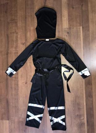 Ниндзя черный самурай 4-7 лет костюм