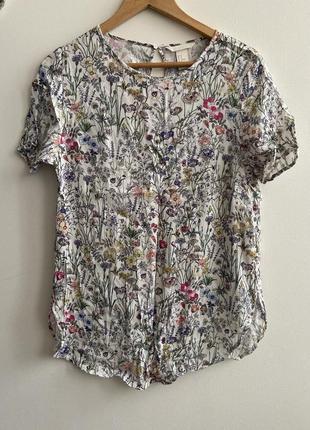 Блуза -футболка h&m p. 40 100% viscose #681 новое поступление🎉🎉🎉 1+1=3🎁