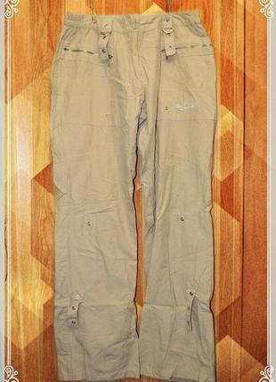 Легкие,спортивные штанишки-бриджи,беж,р.l