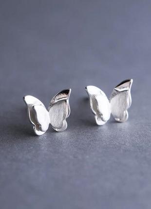Серебрябряные серьги бабочки, сережки, серебро, срібні кульчики, срібло