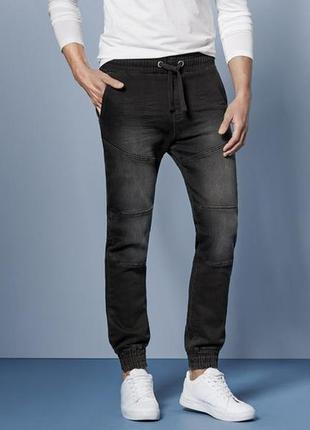 Джинсы на резинке, джинсовые джоггеры 56 euro (40) livergy, германия