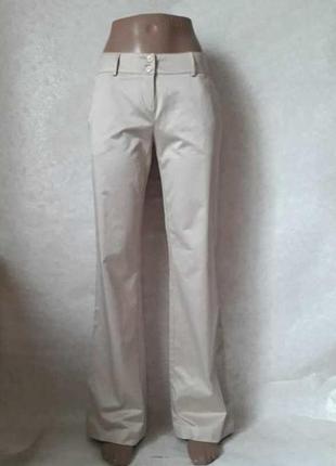 "Фирменные moschino couture базовые брюки с карманами цвета ""беж"",размер хл"