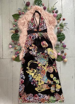 Роскошное макси платье в цветочный принт высокий рост №405