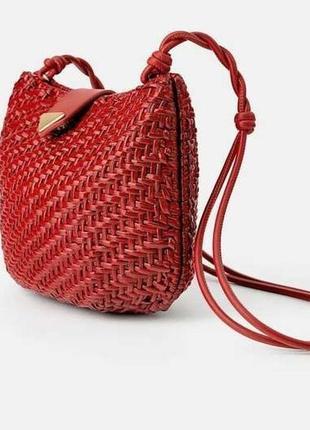 Плетеная сумка zara