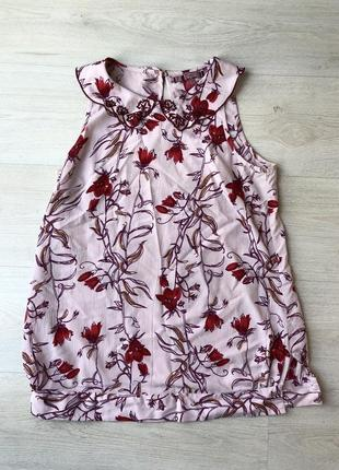 Розовая бордовая блуза блузка майка топ next