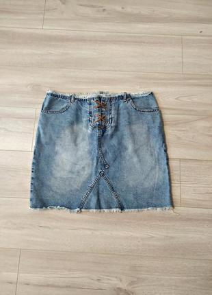 Фирменная джинсовая юбка на завязках
