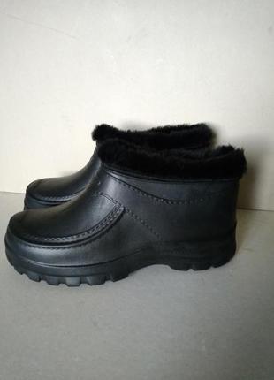 Р 45 / 29,5 см ботинки галоши калоши большие удобные черные на меху пена эва