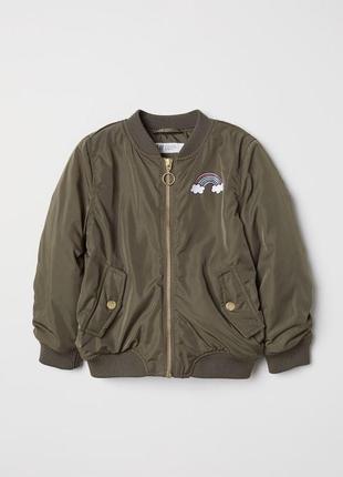 Куртка демисезонная бомбер 6-7 h&m единорог