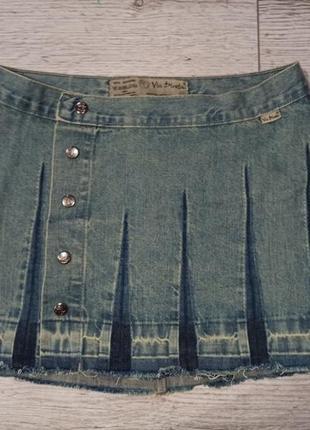 Стильна джинсова спідниця на запах vіa direta 50 грн