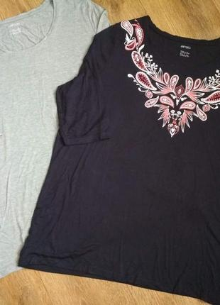 Батал! нежнейшая футболка туника из вискозы esmara, р.52-54, укр.60-62