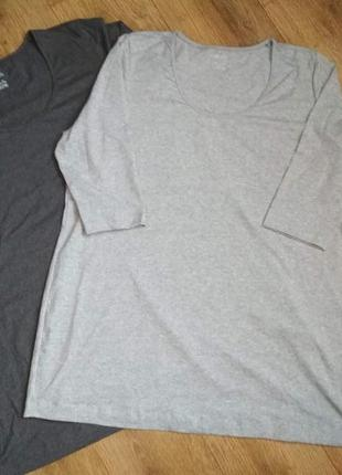 Батал! эластичная хлопковая футболка туника esmara, р. 56-58, укр. 64-68