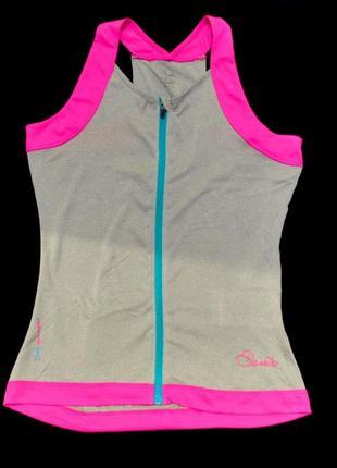 Спортивная серая майка бренда dare2b с розовым велосипедка крутая футболка