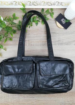 Европа🇪🇺 mango. кожа. стильная фирменная сумка бочонок