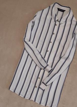 Рубашка в полоску размер 12-14 dorothy perkins