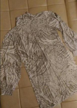 Вискозное платье, туника play в пудровых тонах с рукавами фонариками, р.xl