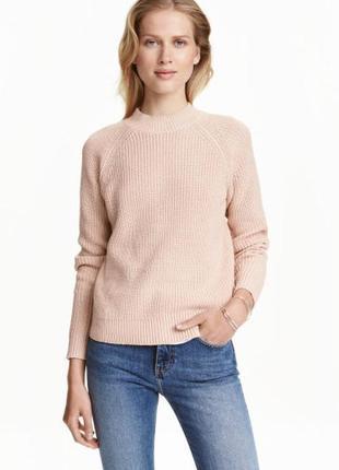Оригинальный свитер крупной вязки с замком на всю спинку h&m