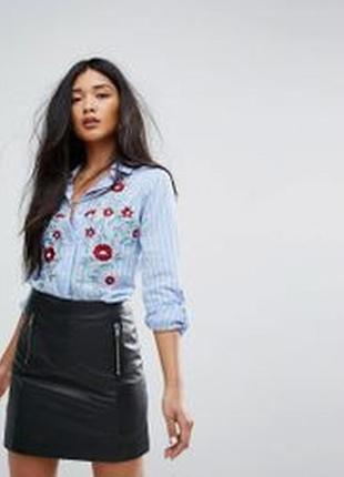 🔥 total sale 🔥стильная оверсайз рубашка-платье missguided
