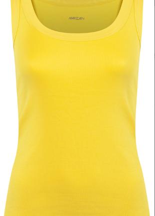 Мягенькая майка/топ желтого цвета, в рубчик р. n-1, s - наш 42 , от marc cain sports