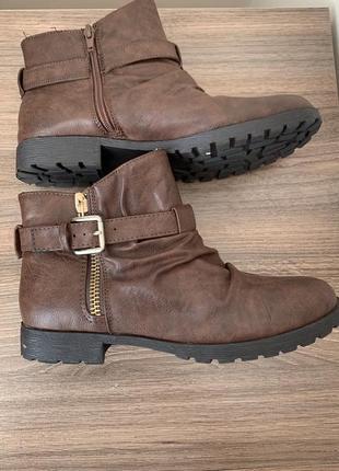 Шоколадні ботінки/ черевики/ боти.4 фото