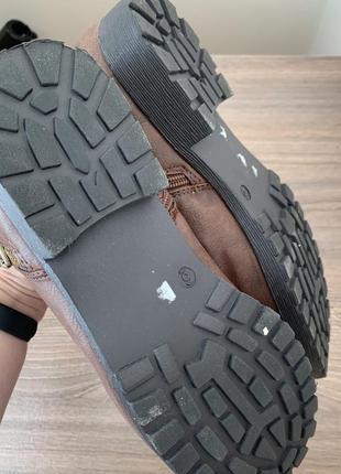 Шоколадні ботінки/ черевики/ боти.7 фото