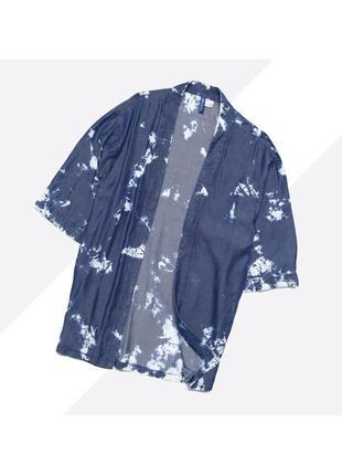 Divided h&m s / новая рубашка кимоно в джинсовом цвете