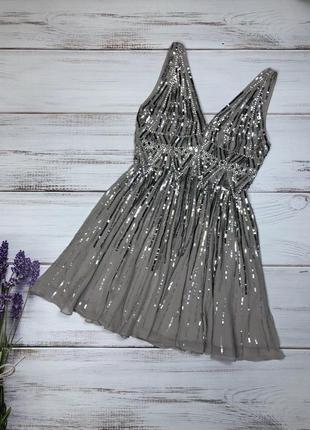 Шикарное платье расшито паетками бренда asos (2227)