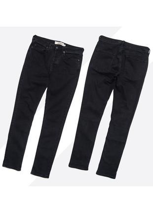 Topman 32* / мужские серые потёртые зауженные джинсы скинни (узкачи)