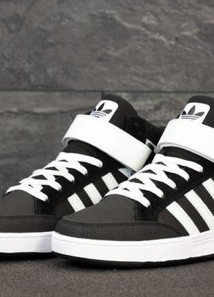 Мужские кроссовки adidas varial mid. black white
