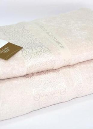 Новое полотенце tac bamboo elegance, бежевое 70*140