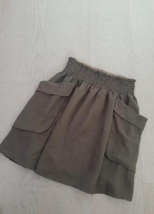 Стильная летняя юбка с накладными карманами