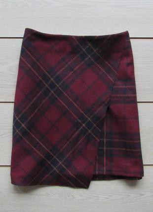 Асимметричная юбка в клетку от george