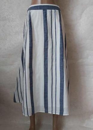 Фирменная f&f с биркой длинная юбка в пол со 100 % хлопка в полоски, размер 2хл-3хл