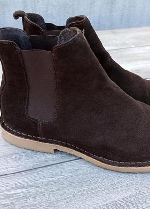 Oficce london мужские туфли челси замшевые ботинки оригинал англия