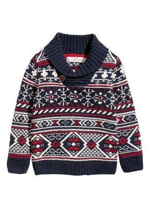 H&m зимний новогодний свитер кофта