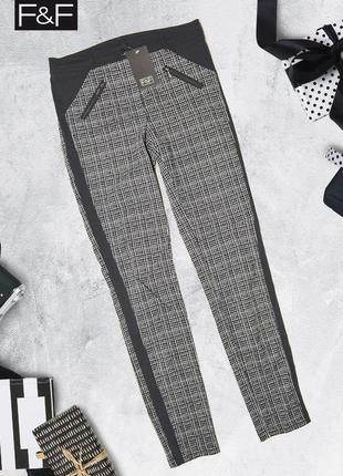 Трикотажные штаны черно-белые carmel clothing by f&f