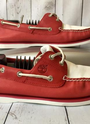 Кожаные топсайдер timberland р45/28.5,оригинальные кеды слипоны,мокасины туфли