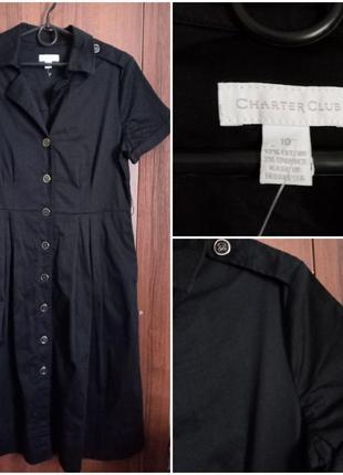 Коттоновое платье-рубашка