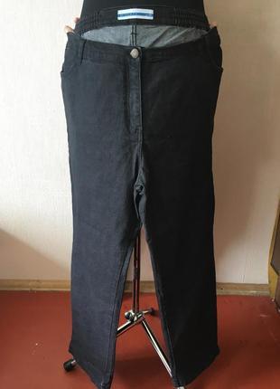 Темно серые стильные женский узкие джинсы bm-denim батальные 20 размера