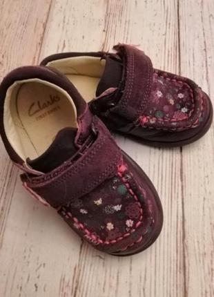 Кожаные туфельки на девочку 21 размер