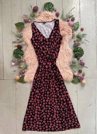 Комфортное трикотажное платье в пол высокий рост  №424