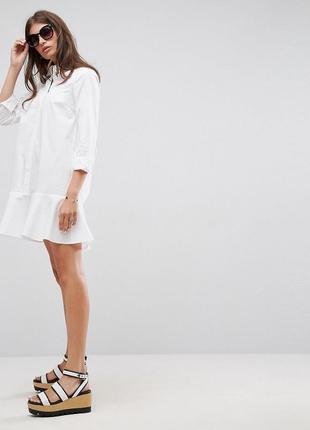 Asos бавовняна сукня-сорочка хвилястий низ доставка сутки