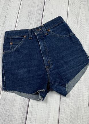 Женские шорты levi`s original xs-s синие стильные