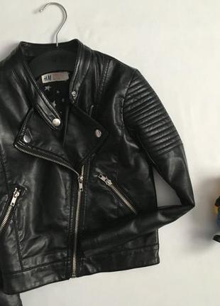 Модная куртка косуха для девочки на весну весенняя куртка