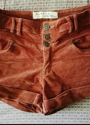 Вельветовые шорты new look