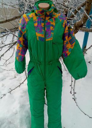 Комбинезон  теплый лыжный унисекс на синтепоне рост 152 см