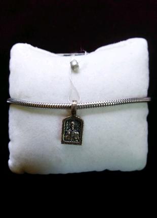 Іконка шарм миколай срібло 925