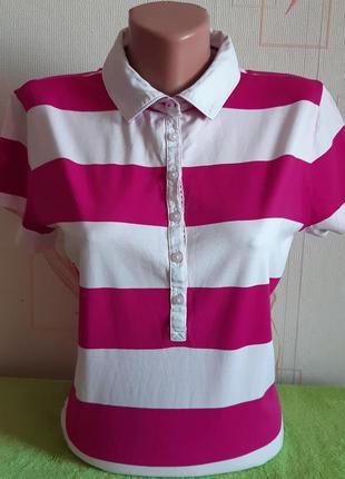 Сногсшибательная футболка поло в полоску tommy hilfiger made in vietnam