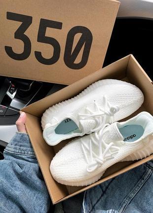 Adidas yeezy boost 350 white белые ♦ женские кроссовки ♦ весна лето осень